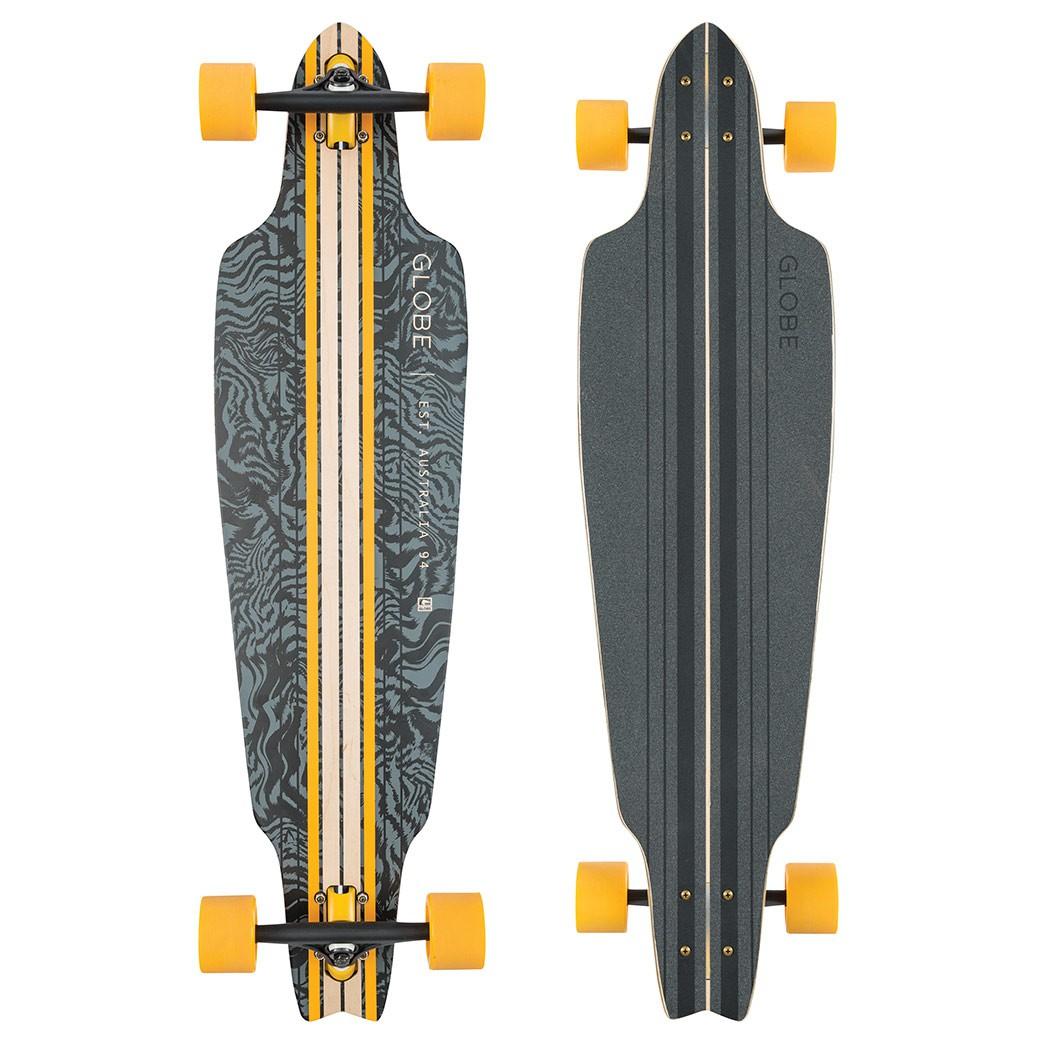 Longboard Globe Prowler black/yellow/tailspin