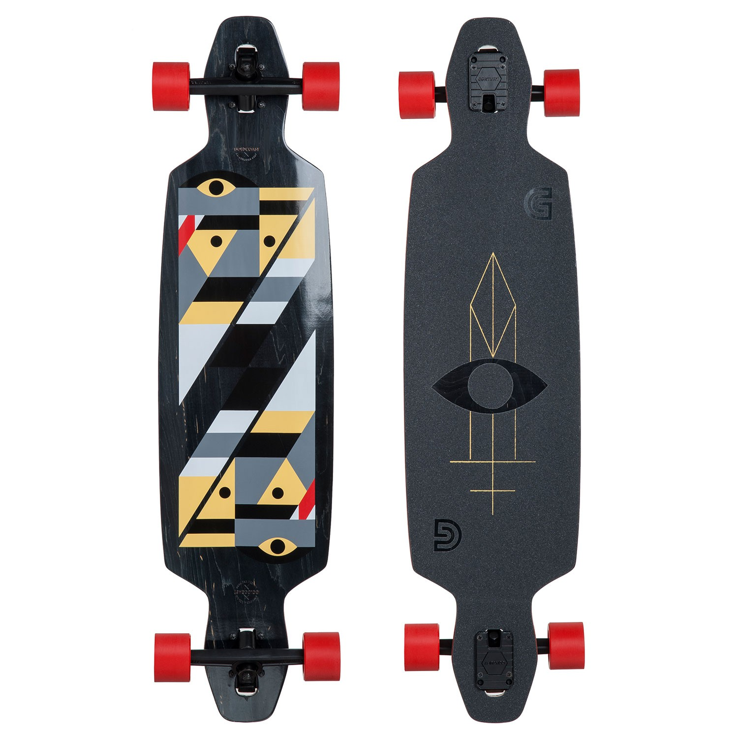 "Longboard Goldcoast Serpentagram Drop Through black vel.40"" / 102 cm 16 + Kšiltovka Goldcoast ZDARMA"