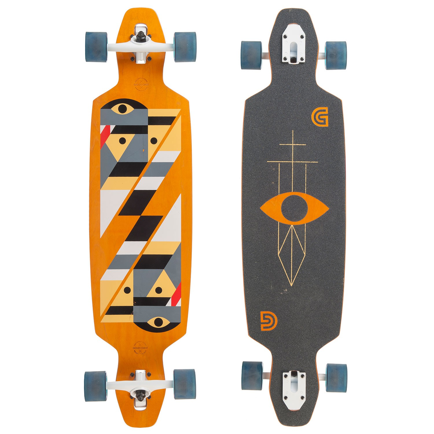 "Longboard Goldcoast Serpentagram Drop Through yellow vel.40"" / 102 cm 16 + Kšiltovka Goldcoast ZDARMA"