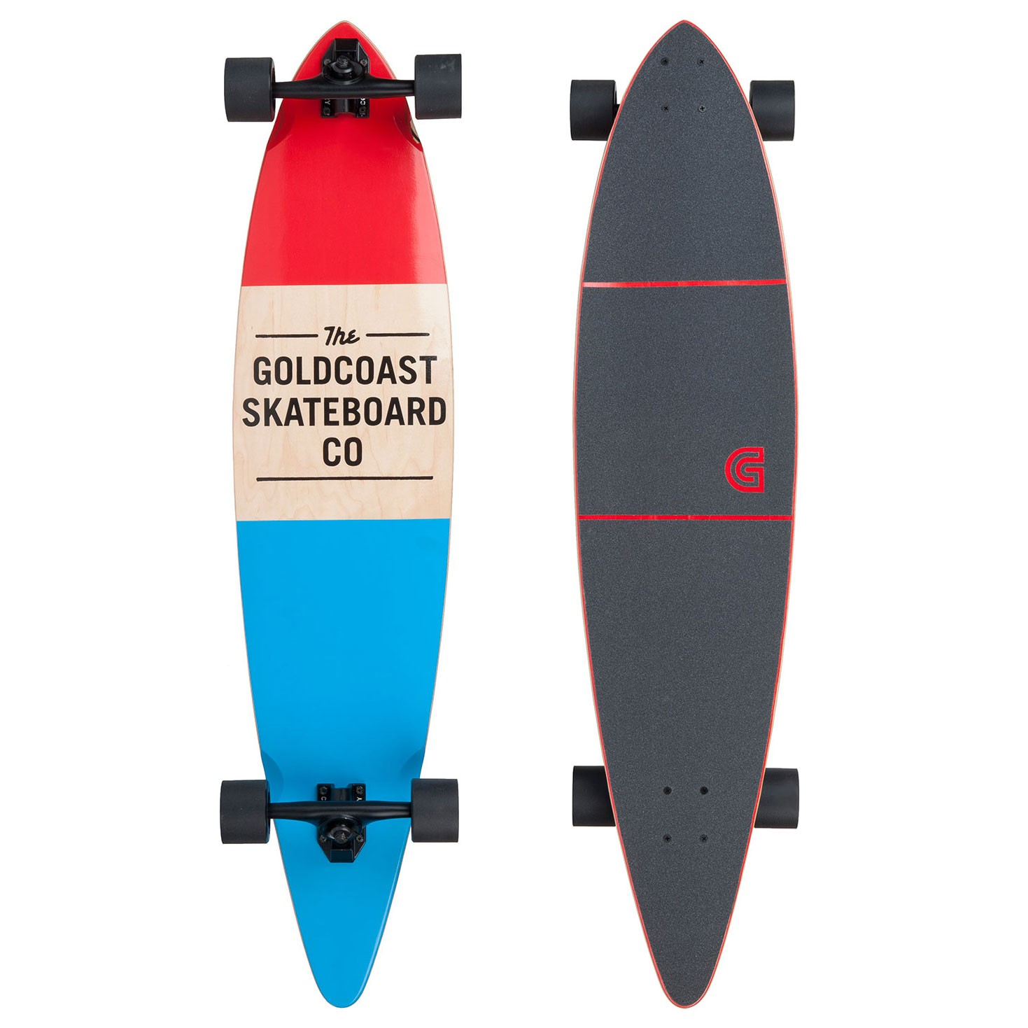 Longboard Goldcoast Standard Pintail red