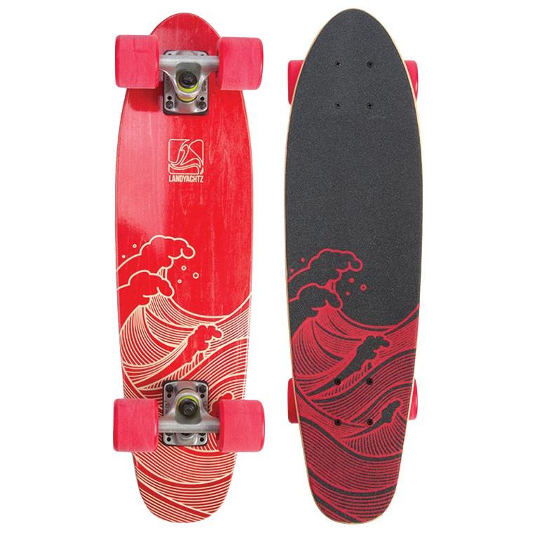 Longboard Landyachtz Dinghy 26 waves red