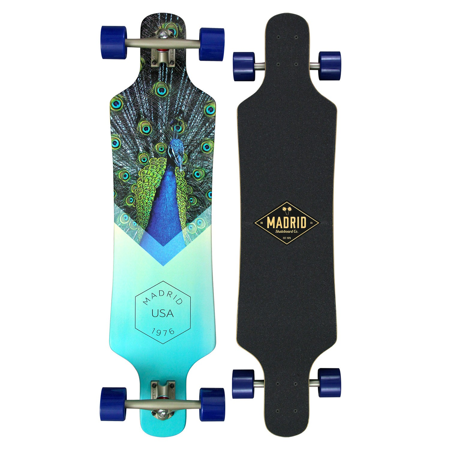 Longboard Madrid Spade Top-Mount peafowl