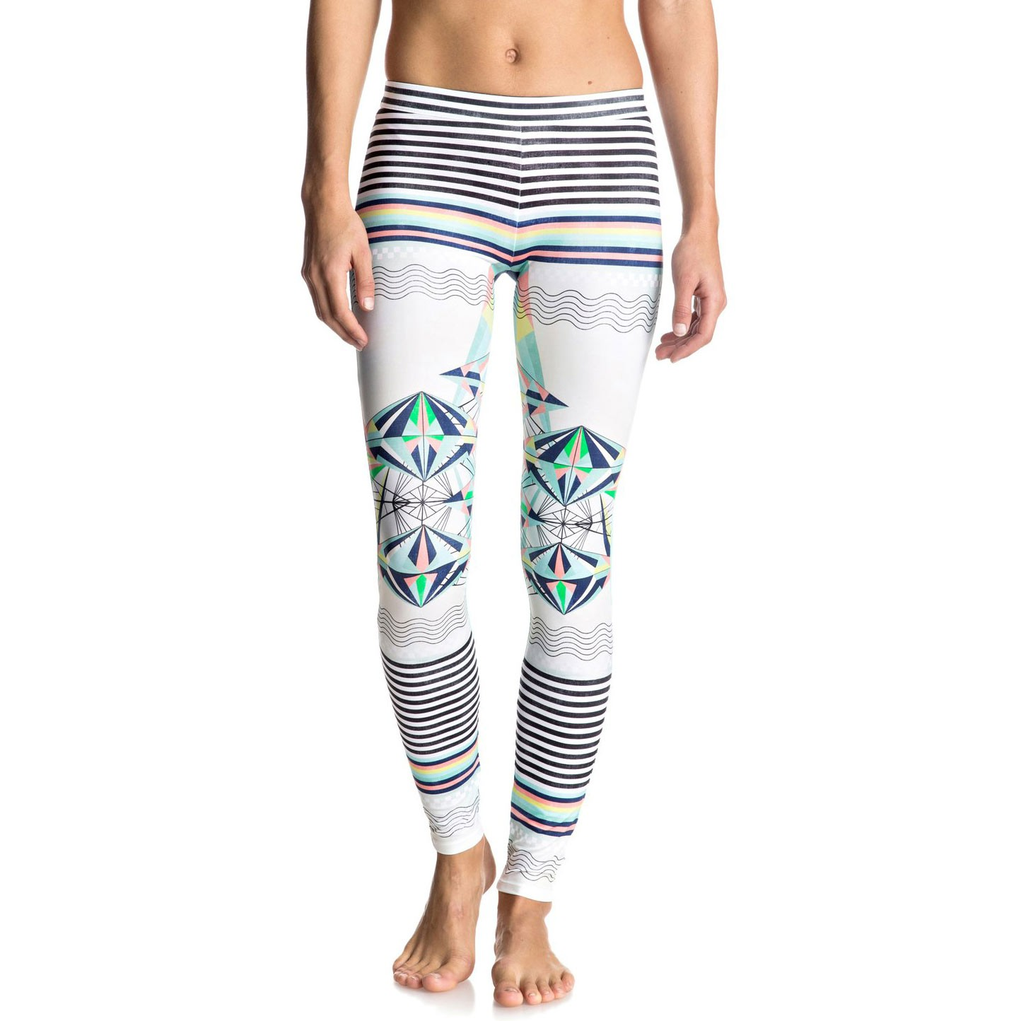 Lycra Roxy Keep It Roxy Surf Legging marshmallow psyche palm repeat