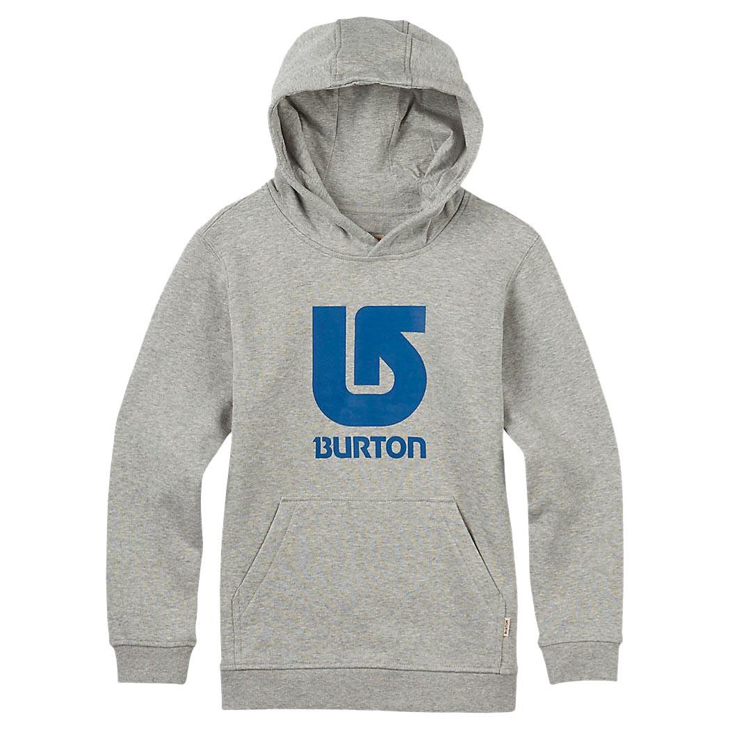 Mikina Burton Boys Logo Vertical Pullover Hood grey heather