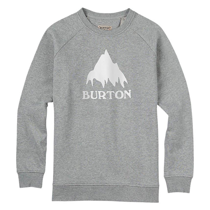 Mikina Burton Classic Mountain Crew grey heather