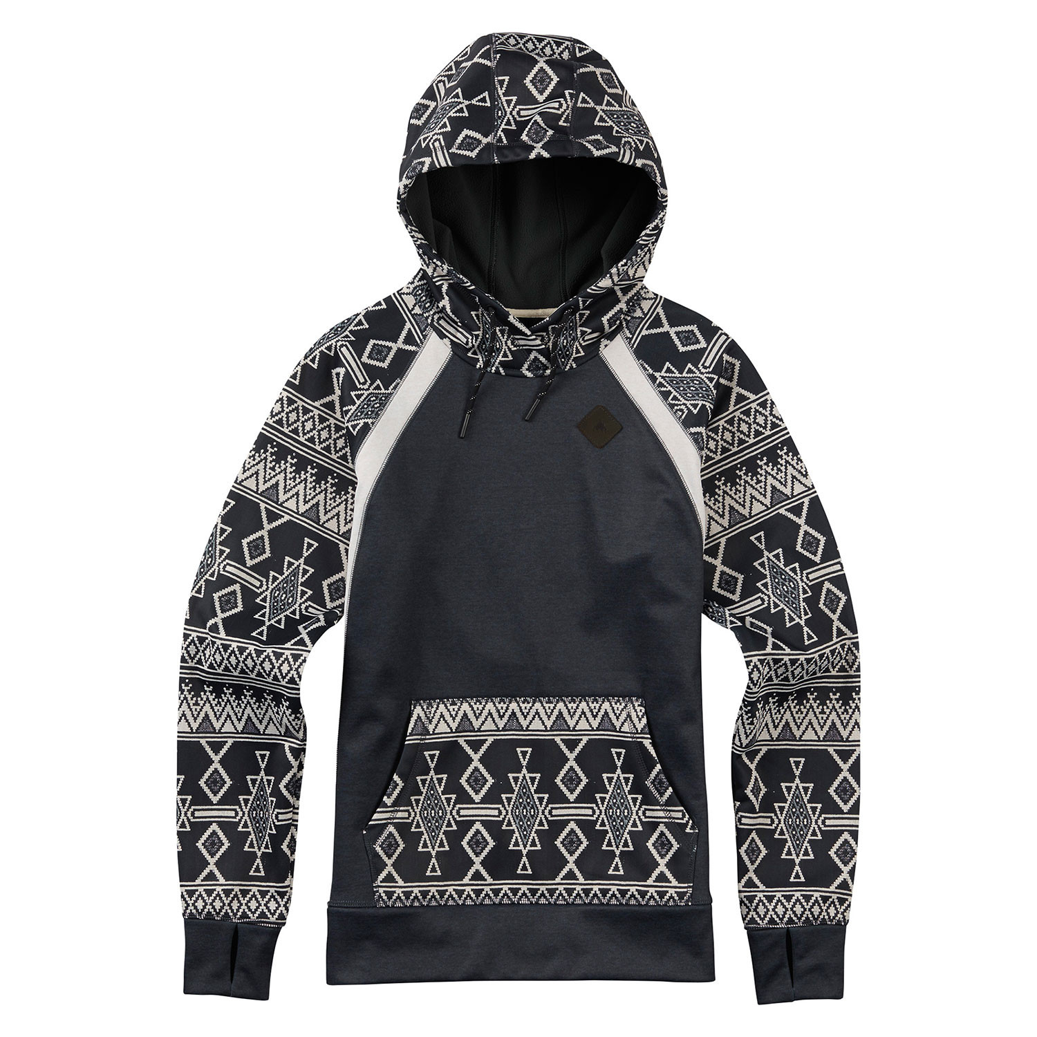 Mikina Burton Wms Heron Pullover Hoodie true black heather/black mojave