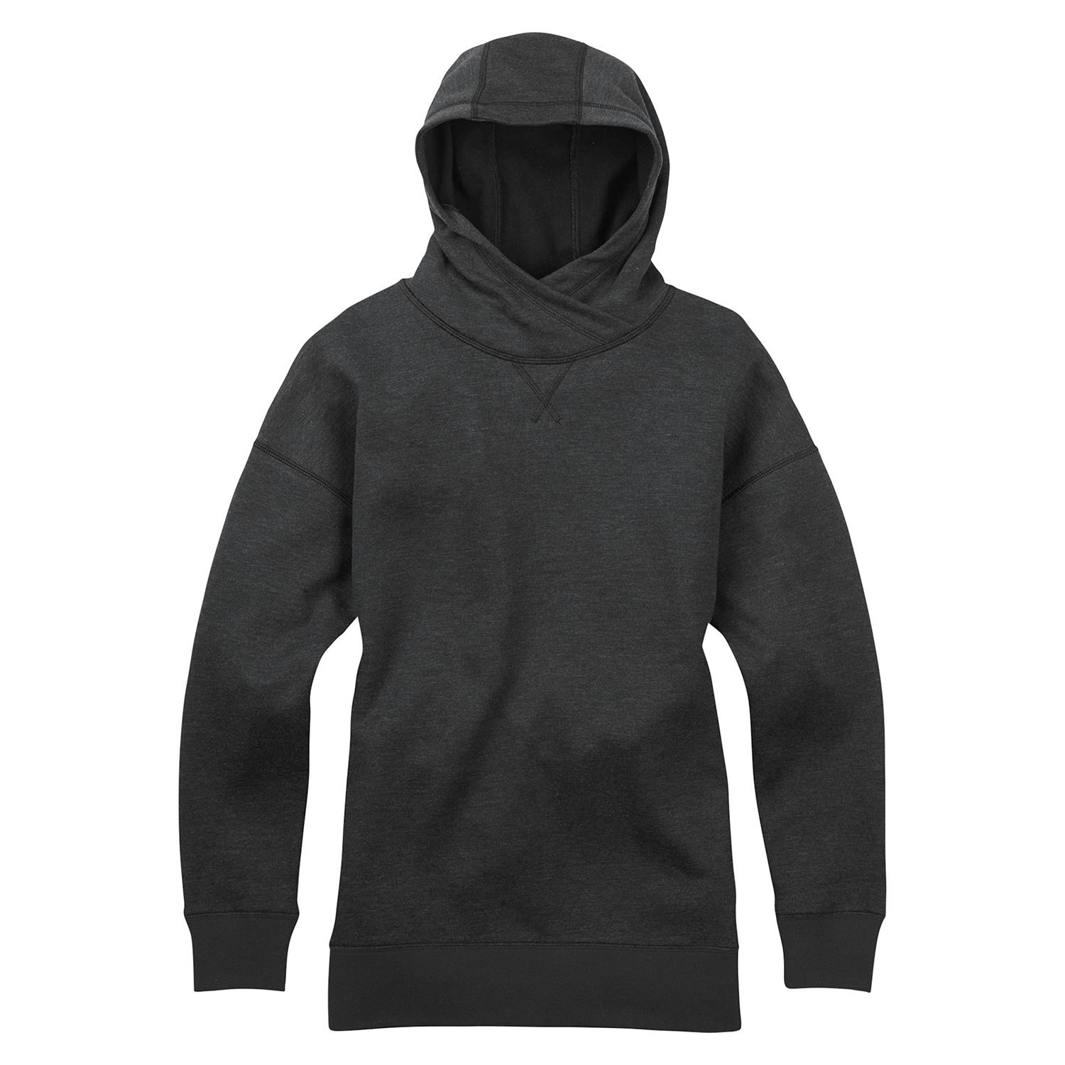 Mikina Burton Wms Hixon Pullover Hoodie true black heather