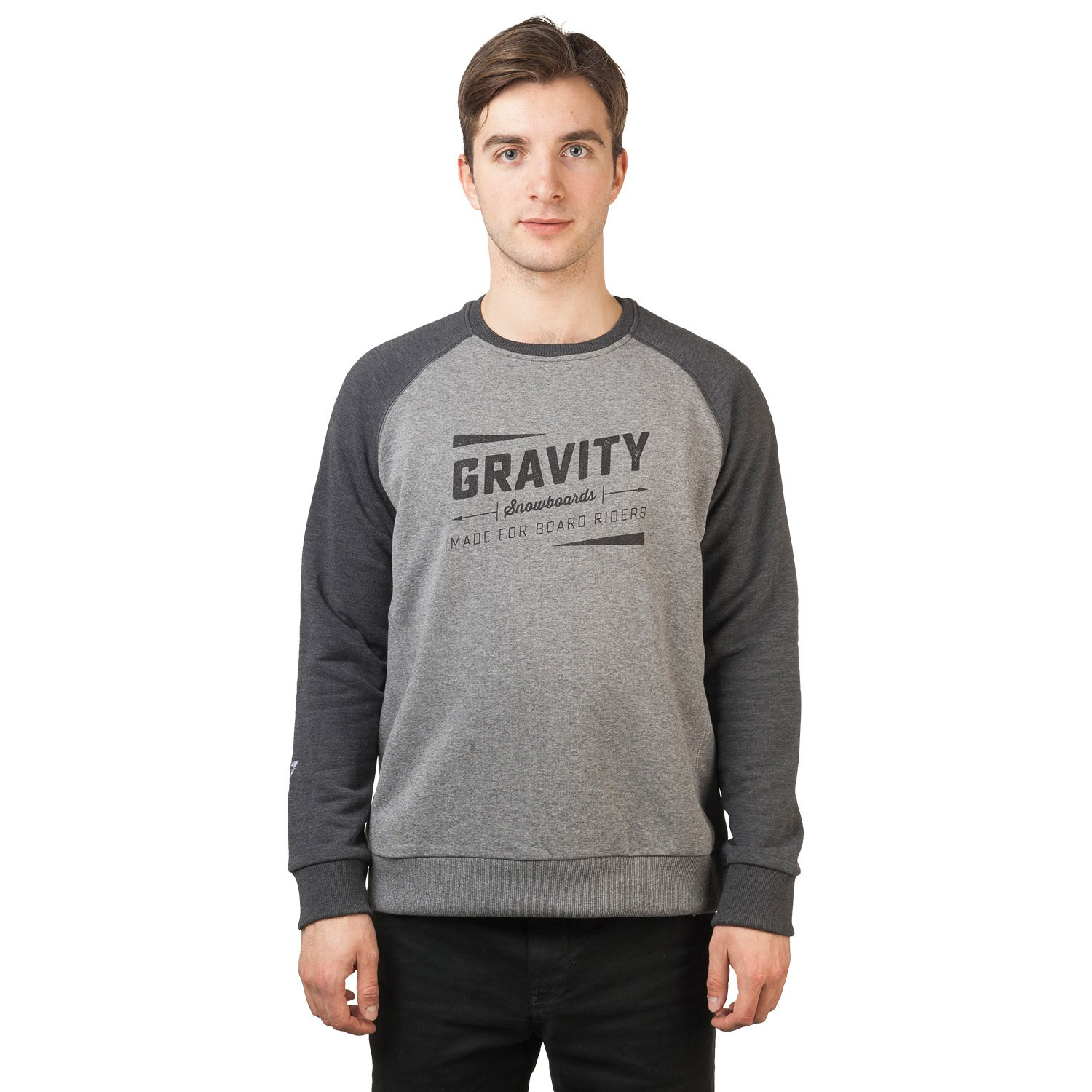Mikina Gravity Jeremy Crew black/grey heather