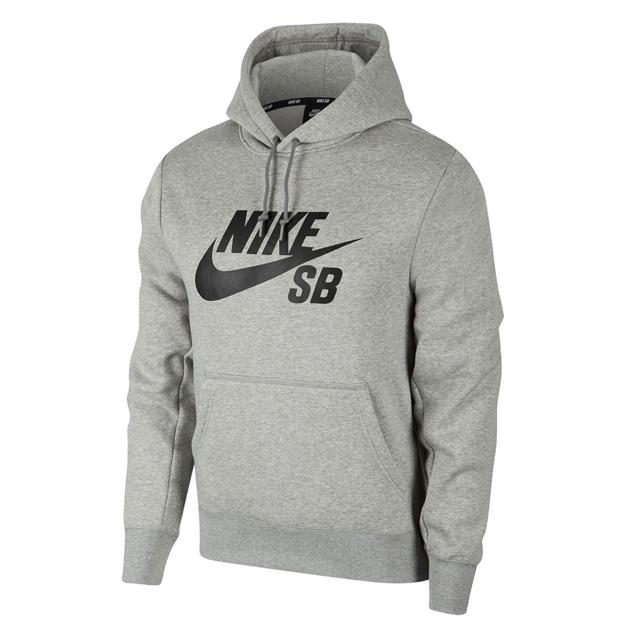 eb4e316da28 Mikina Nike SB Icon Hoodie dk grey heather black