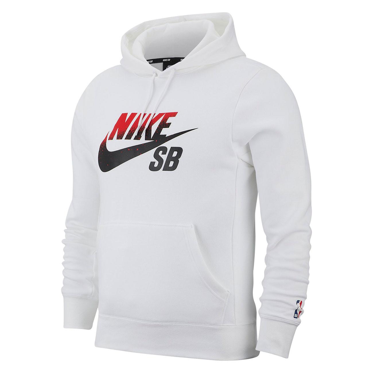 Amado Cayo Sastre  Nike SB Icon Pullover white/university red | Snowboard Zezula