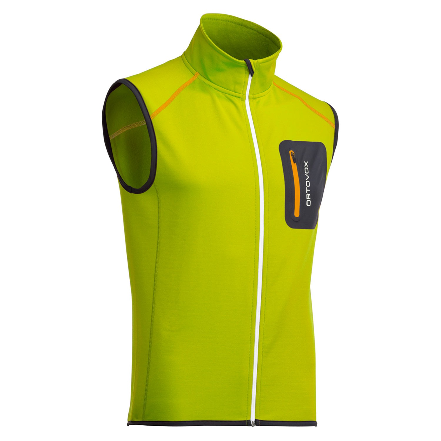 Ortovox Merino Fleece Vest Happy Green Snowboard Zezula