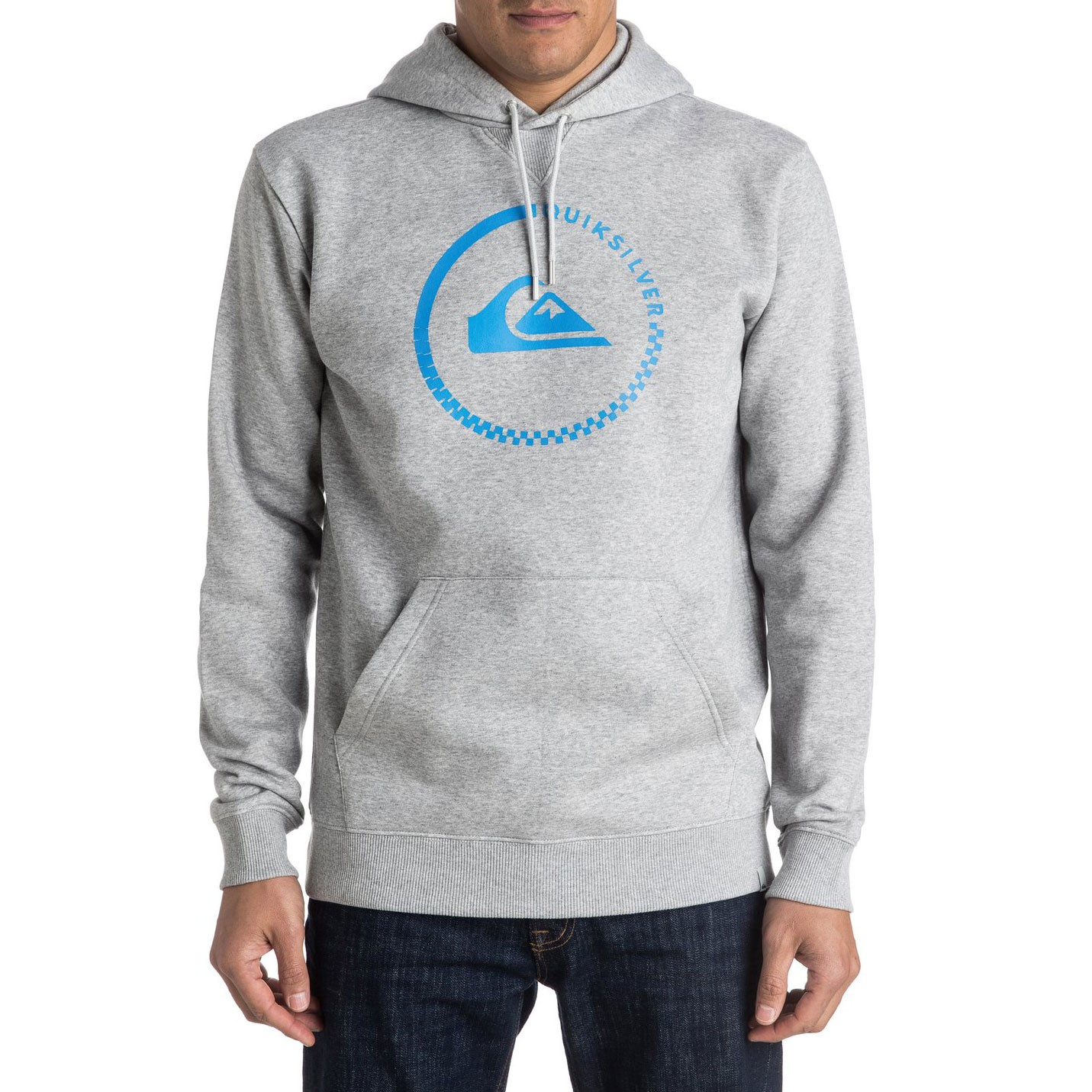 Mikina Quiksilver Big Logo Hood light grey heather
