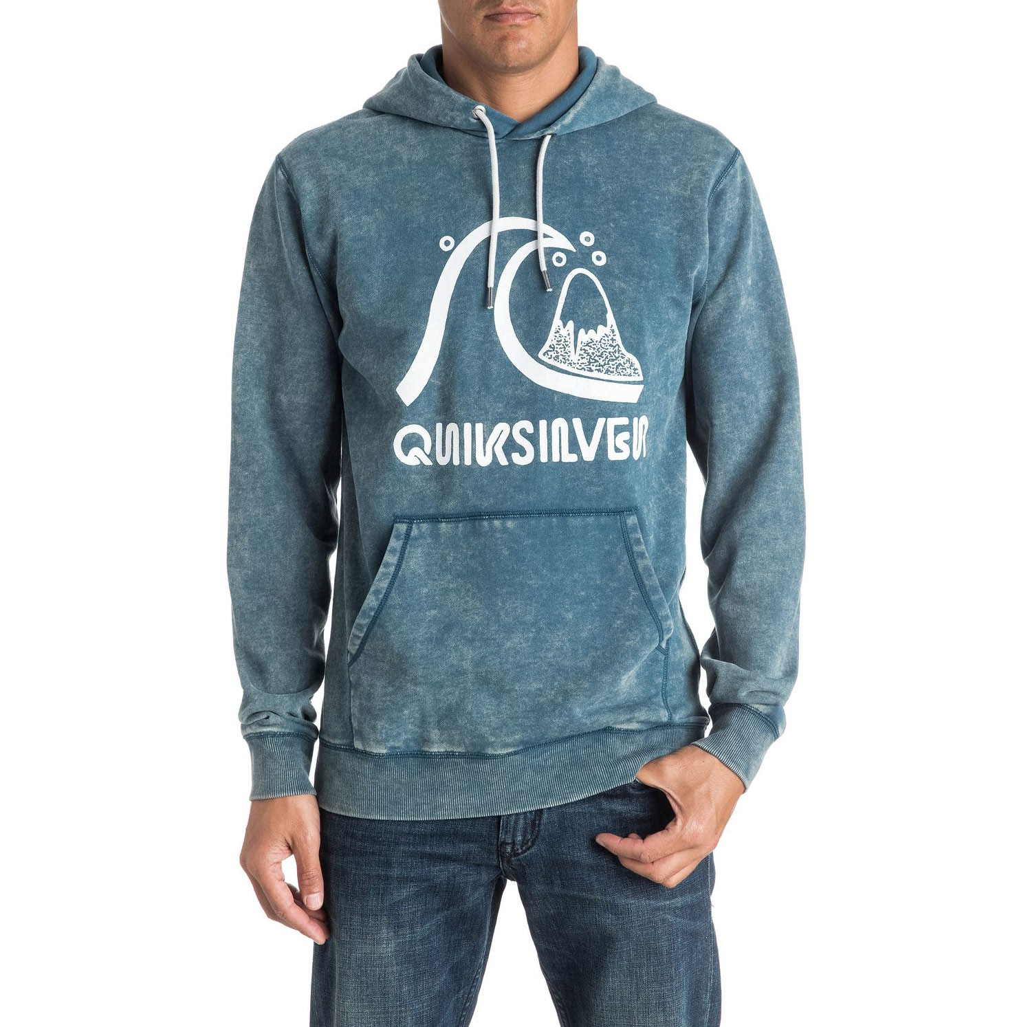 Mikina Quiksilver Bubble Hoody indian teal