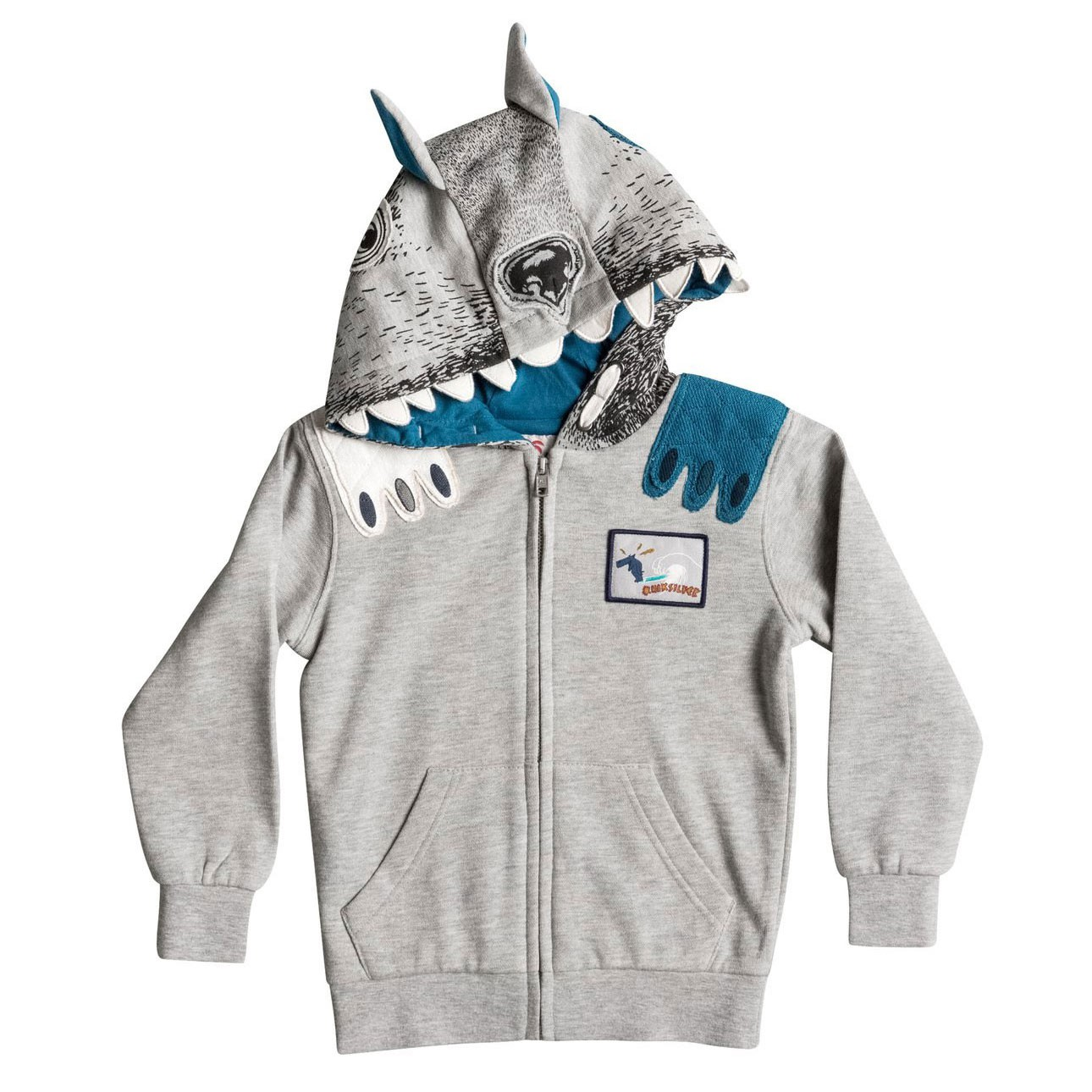 Mikina Quiksilver Ghetto Dog Zip Boy light grey heather