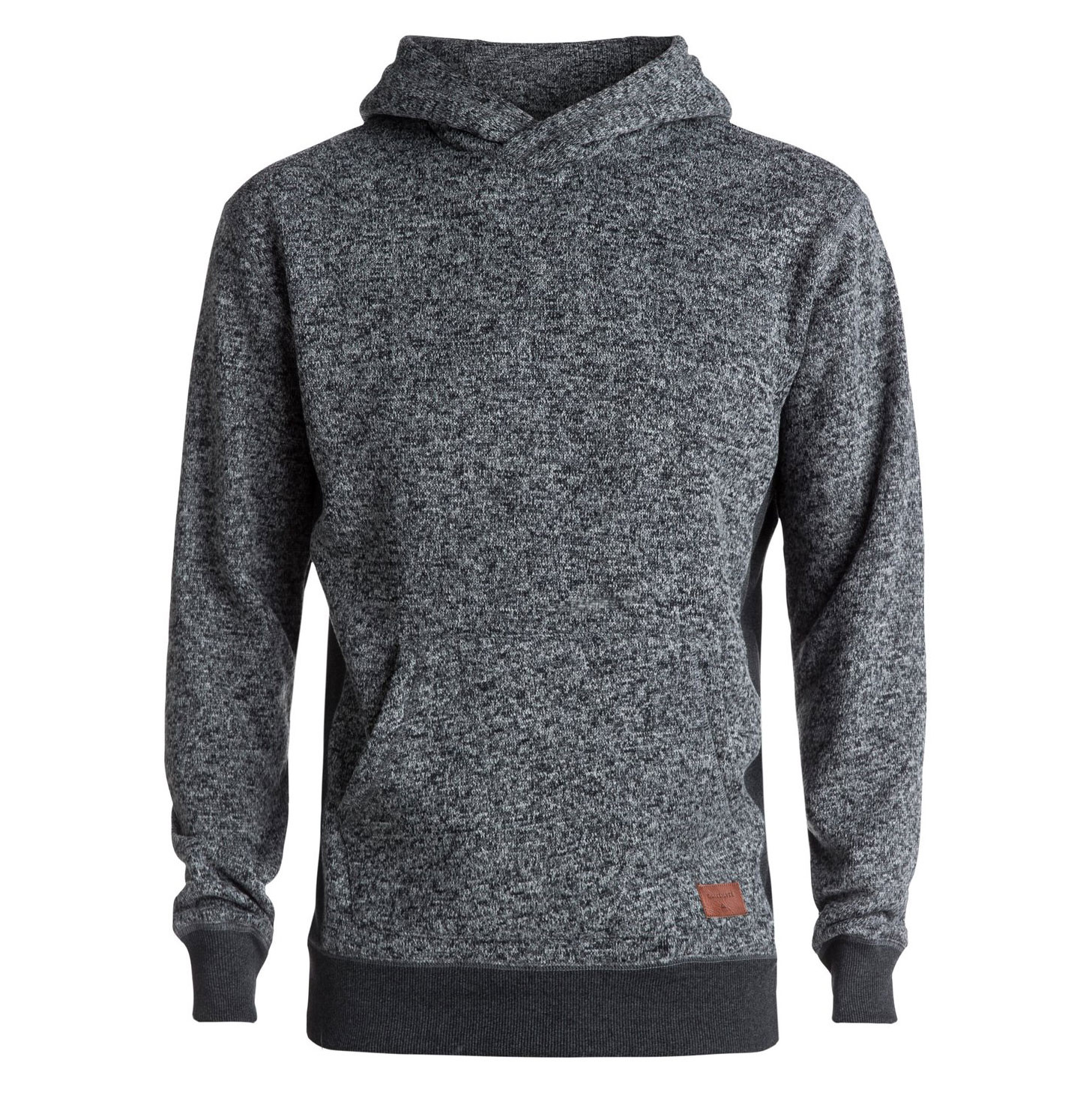Mikina Quiksilver Keller Hood dark grey heather