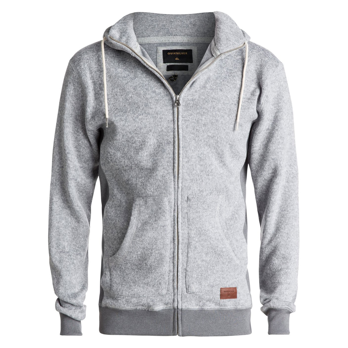 Mikina Quiksilver Keller Zip light grey heather