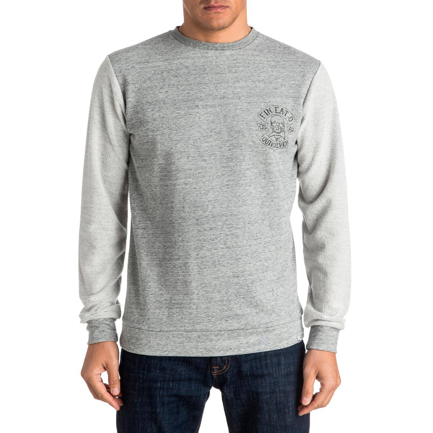 Mikina Quiksilver New Vision Crew medium grey heather