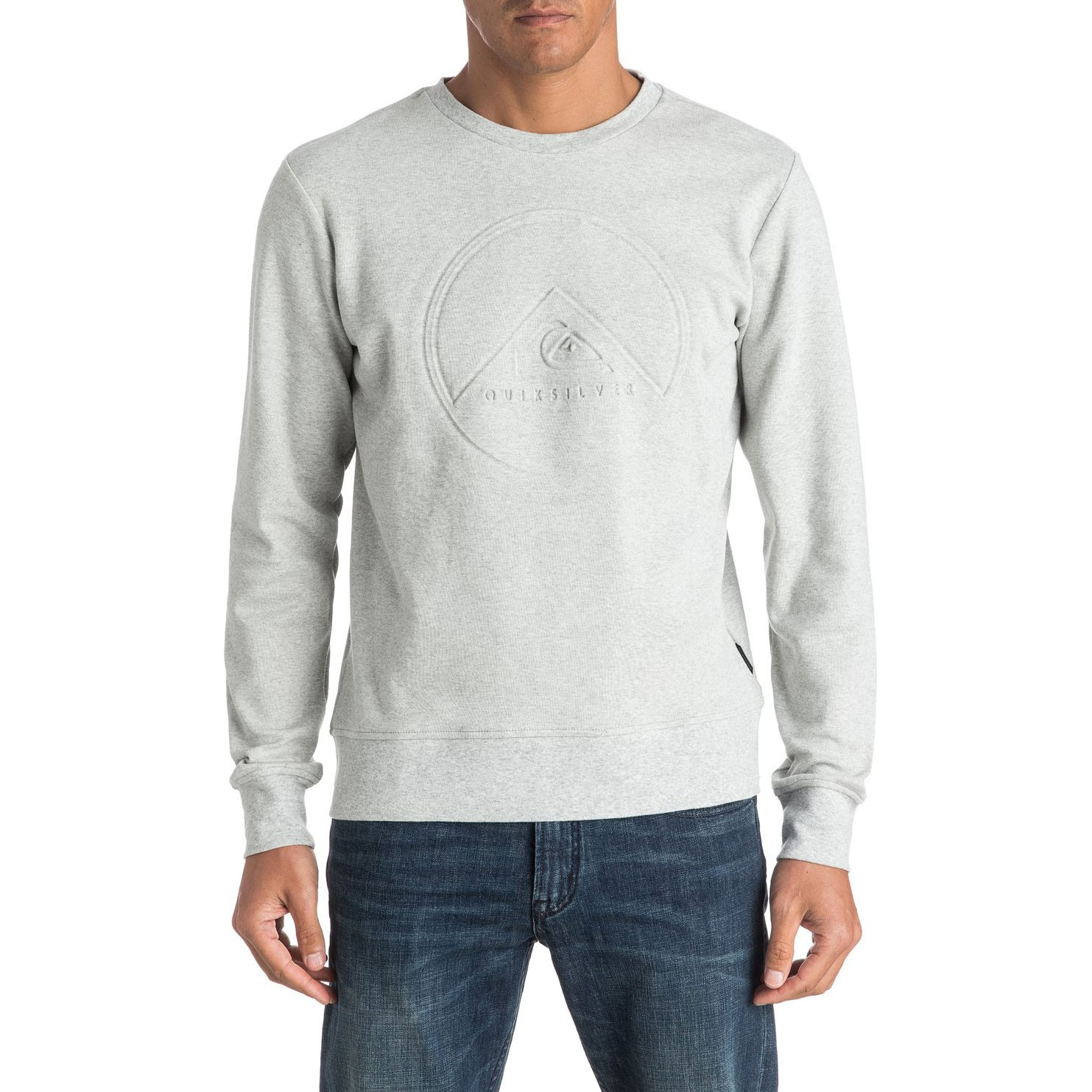 Mikina Quiksilver Ohsee light grey heather