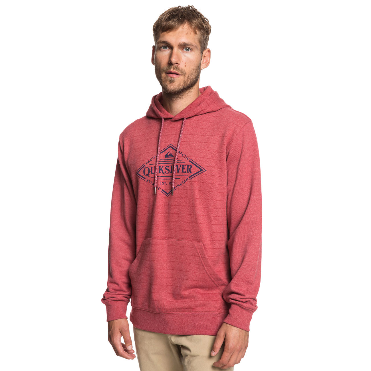 0bf4f15d2c Mikina Quiksilver X Elite brick red screen hoodie stripe