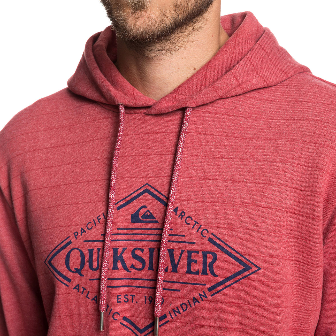 78b37ed316 Mikina Quiksilver X Elite brick red screen hoodie stripe