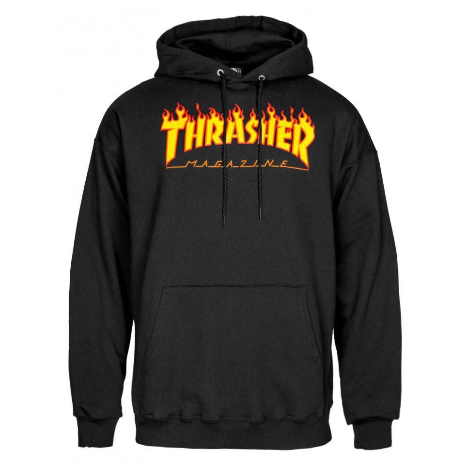 Flame Logo Hood black