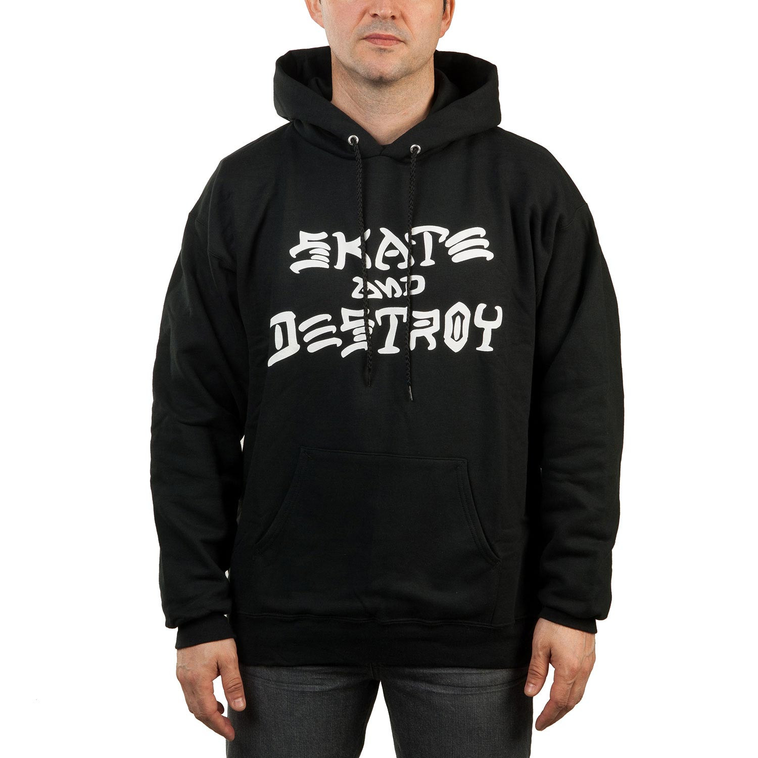Mikina Thrasher Skate And Destroy Hood black