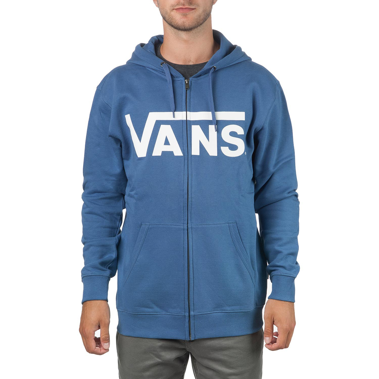 Mikina Vans Classic Zip Hoodie blue ashes/white