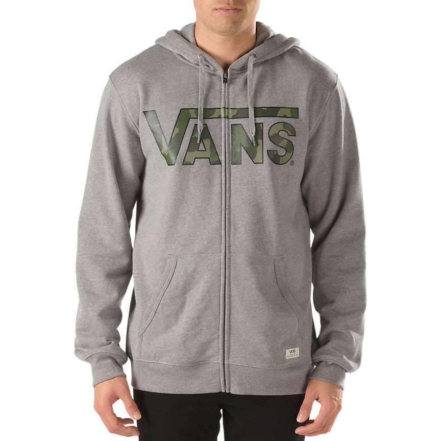 Hoodie Vans Vans Classic Zip concrete heather/bubble camo | Snowboard