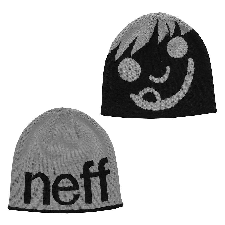 Zimní čepice Neff Happy grey/black