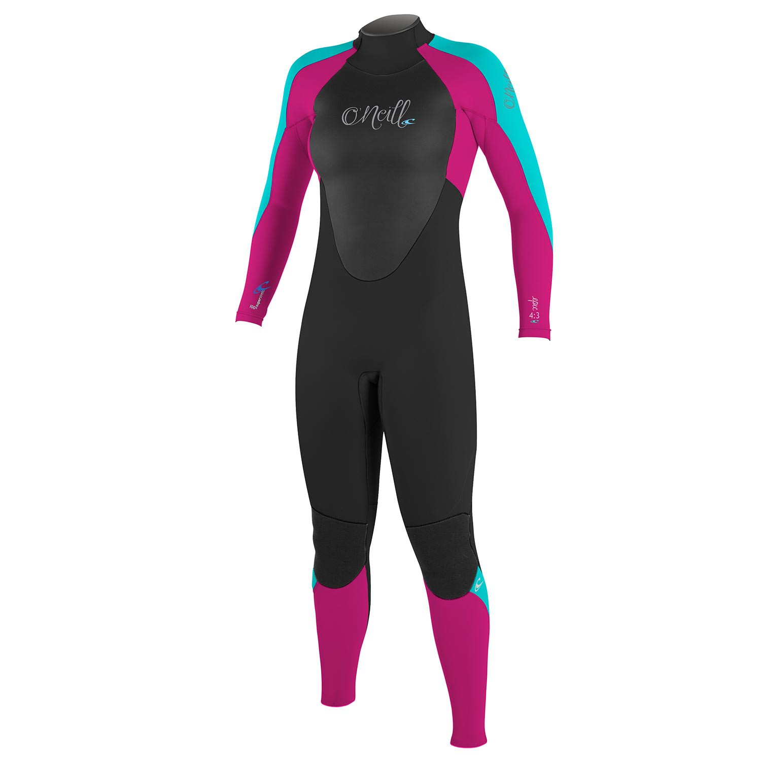 Neoprén O'Neill Girls Epic 4/3 Full black/berry/light aqua