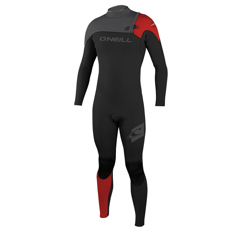Neoprén O'Neill Hyperfreak 4/3 Comp Zipless Full black/graphite/red