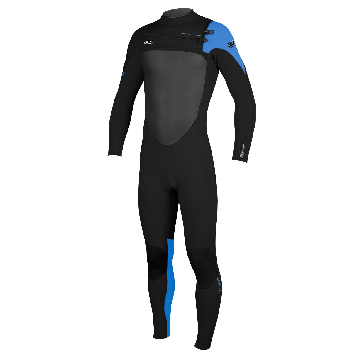 Neoprén O'Neill Superfreak Fz 3/2 black/black/bright blue