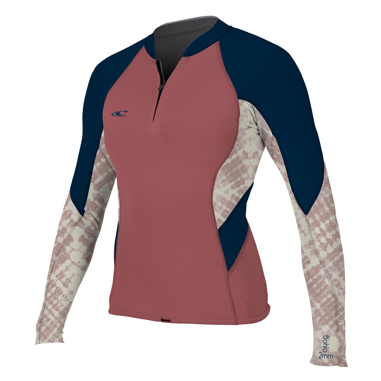 Neoprén O'Neill Wms Bahia 1/0,5 Front-Zip Jacket mesa rose/vida/slate