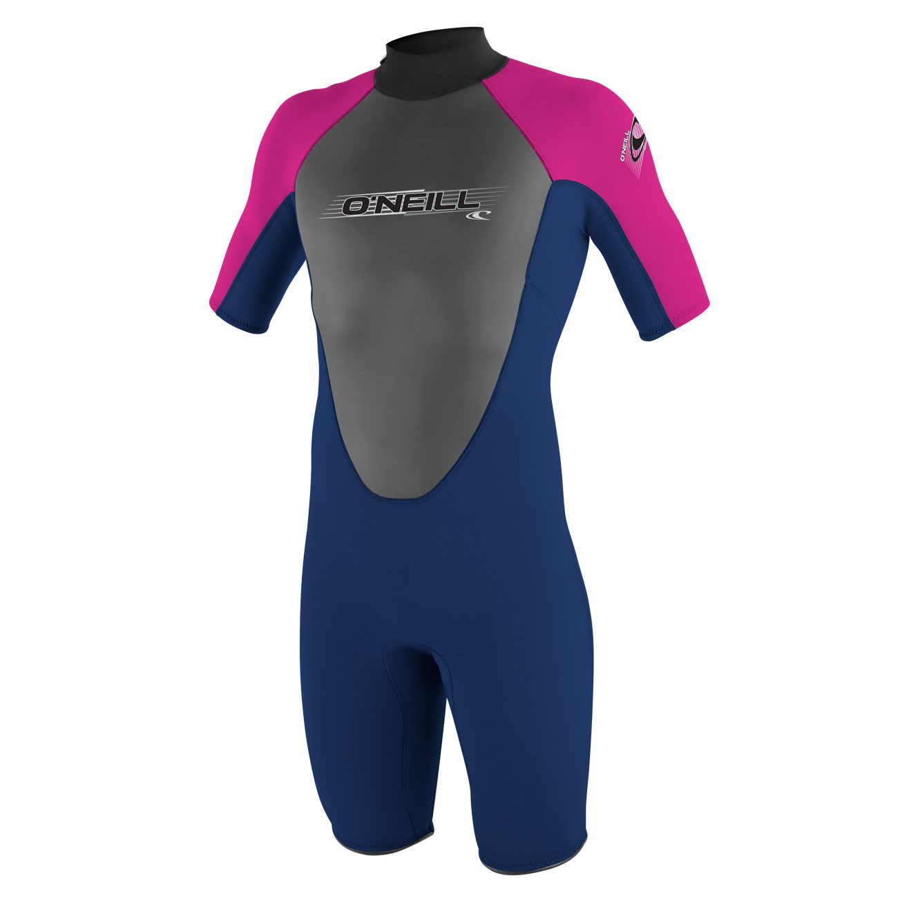Neoprén O'Neill Youth Reactor 2Mm S/s Spring navy/navy/punk pink