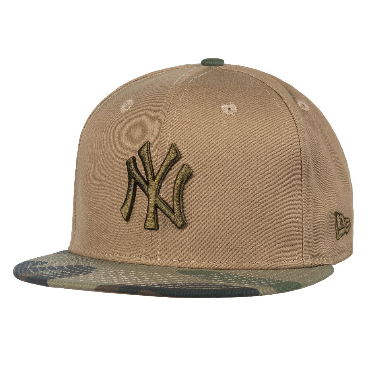 Cap New Era New York Yankees 59Fifty C.e. woodland camo khaki brown ... 5ed09d22972