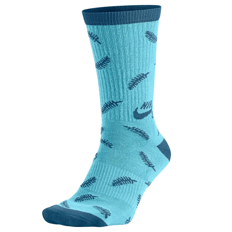 Ponožky Nike SB Fern Crew tide pool blue/brgdbl