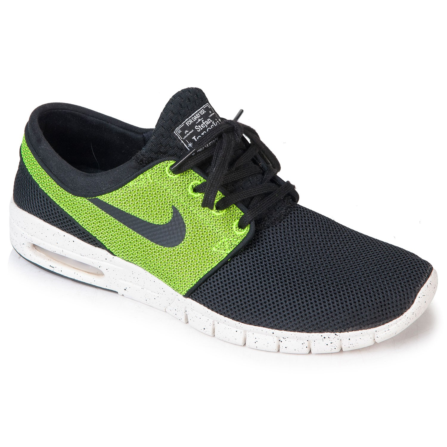 nike sb nike stefan janoski max black black volt ivory. Black Bedroom Furniture Sets. Home Design Ideas