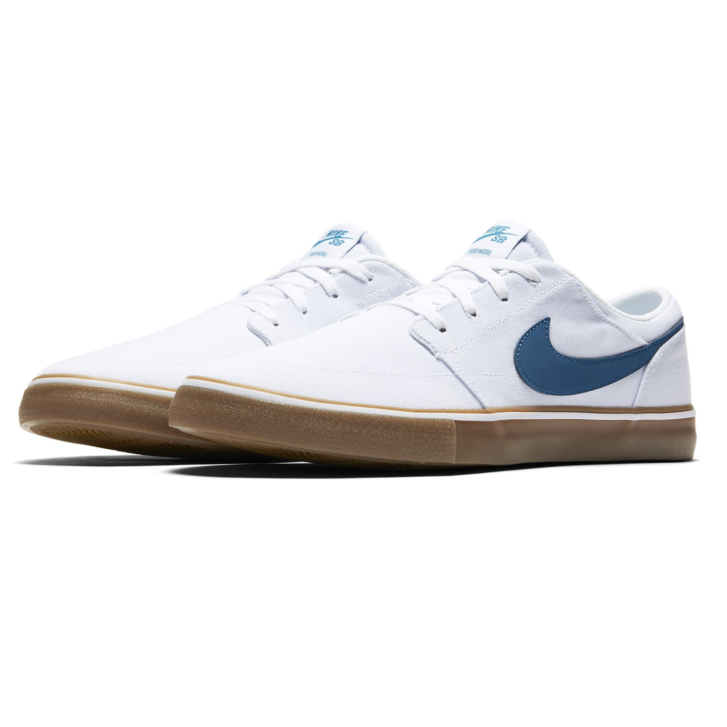 sneakers nike sb solarsoft portmore ii canvas white industrial blue brown snowboard zezula. Black Bedroom Furniture Sets. Home Design Ideas
