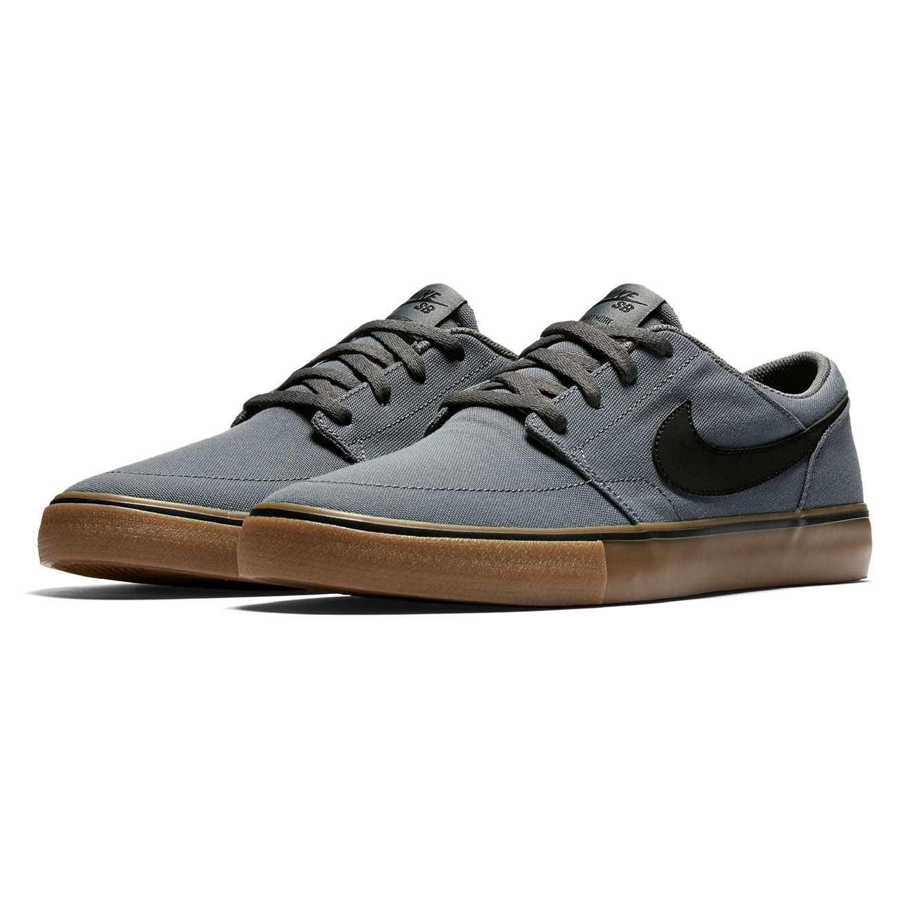 Nike Sb Portmore Ii Black Grey And Gum Skate Shoes