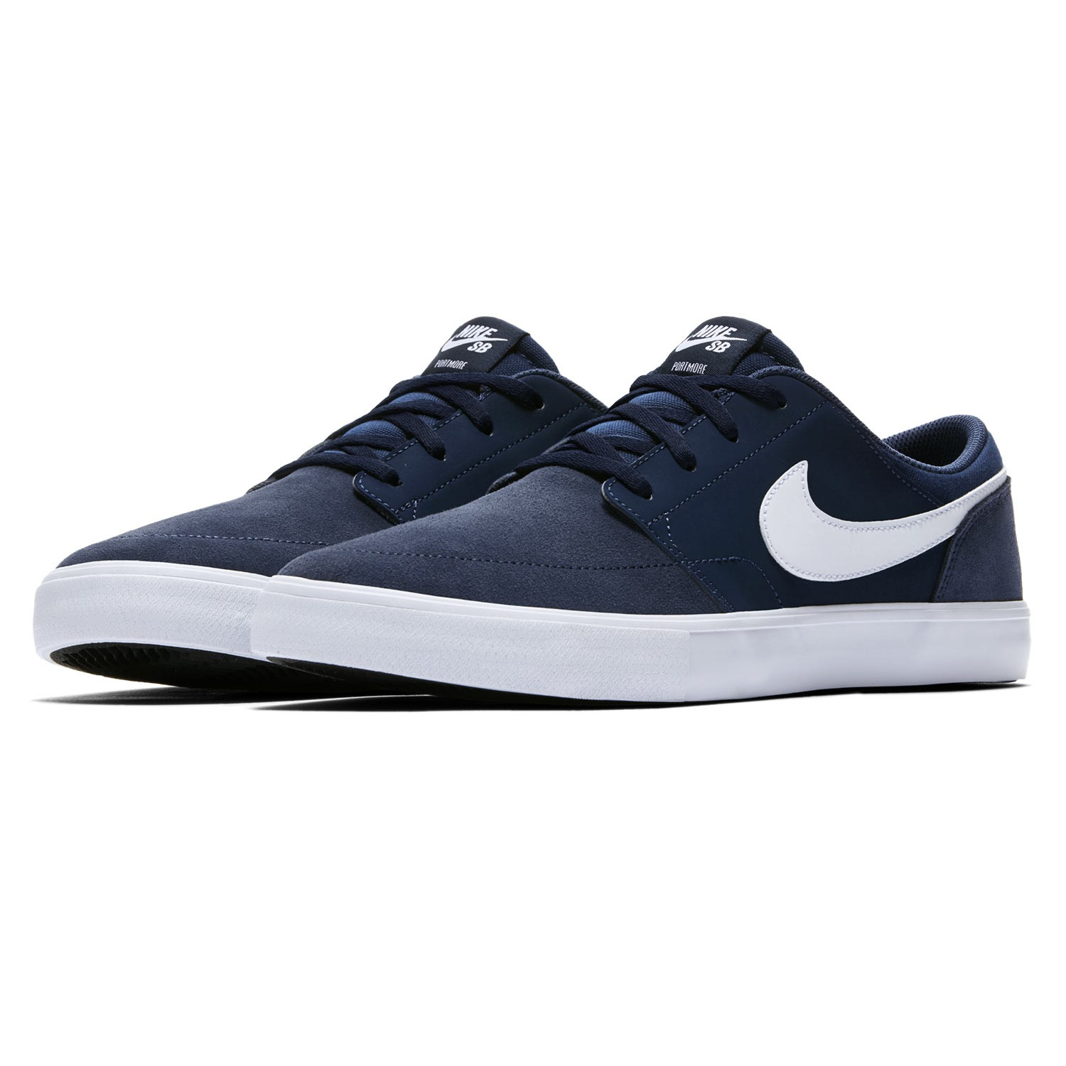 sneakers nike sb solarsoft portmore ii midnight navy white black snowboard zezula