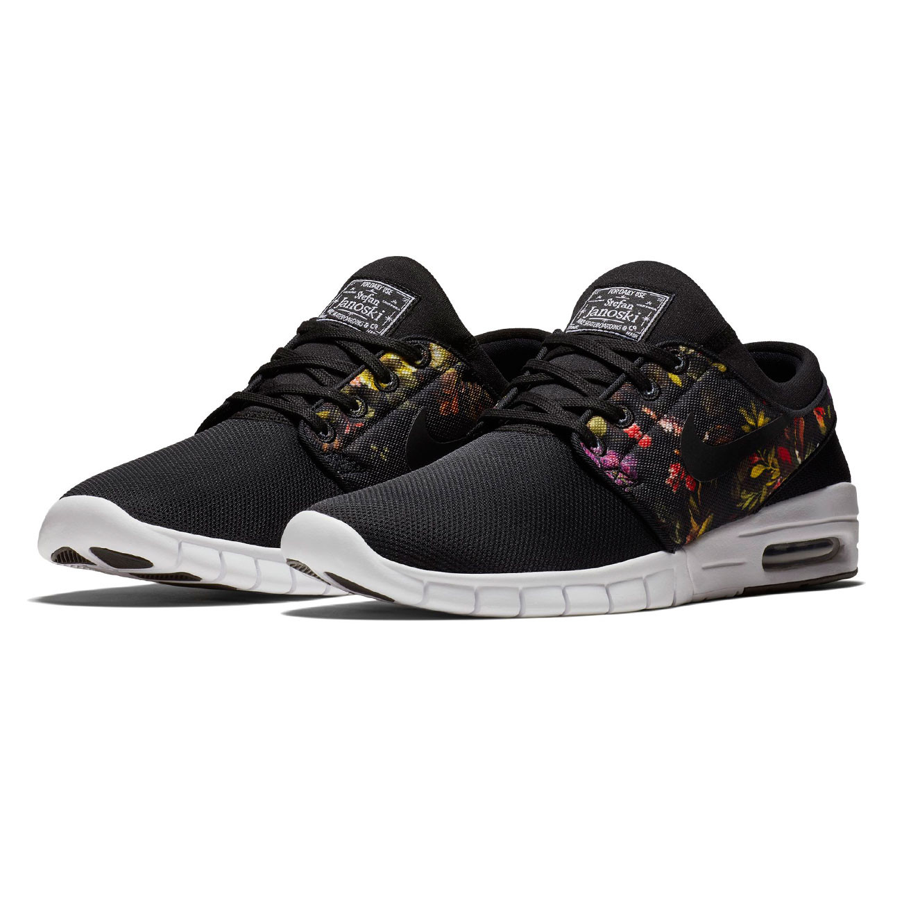 sneakers nike sb stefan janoski max black black multi. Black Bedroom Furniture Sets. Home Design Ideas