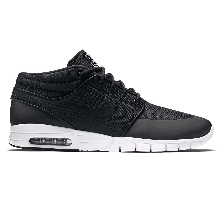 Tenisky Nike SB Stefan Janoski Max Mid black/black-metallic silver-wht