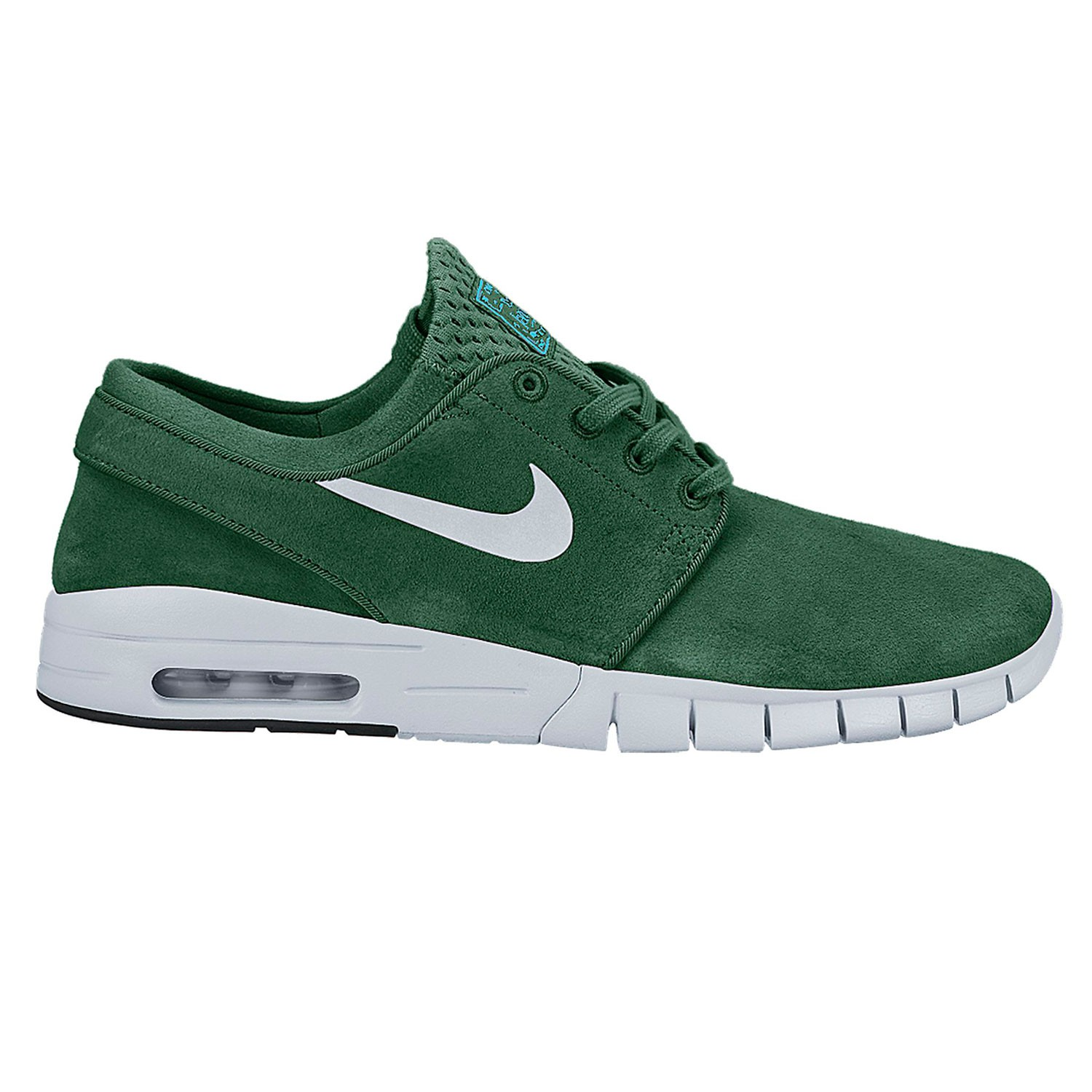 nike sb stefan janoski max suede gorge green mtllc slvr. Black Bedroom Furniture Sets. Home Design Ideas