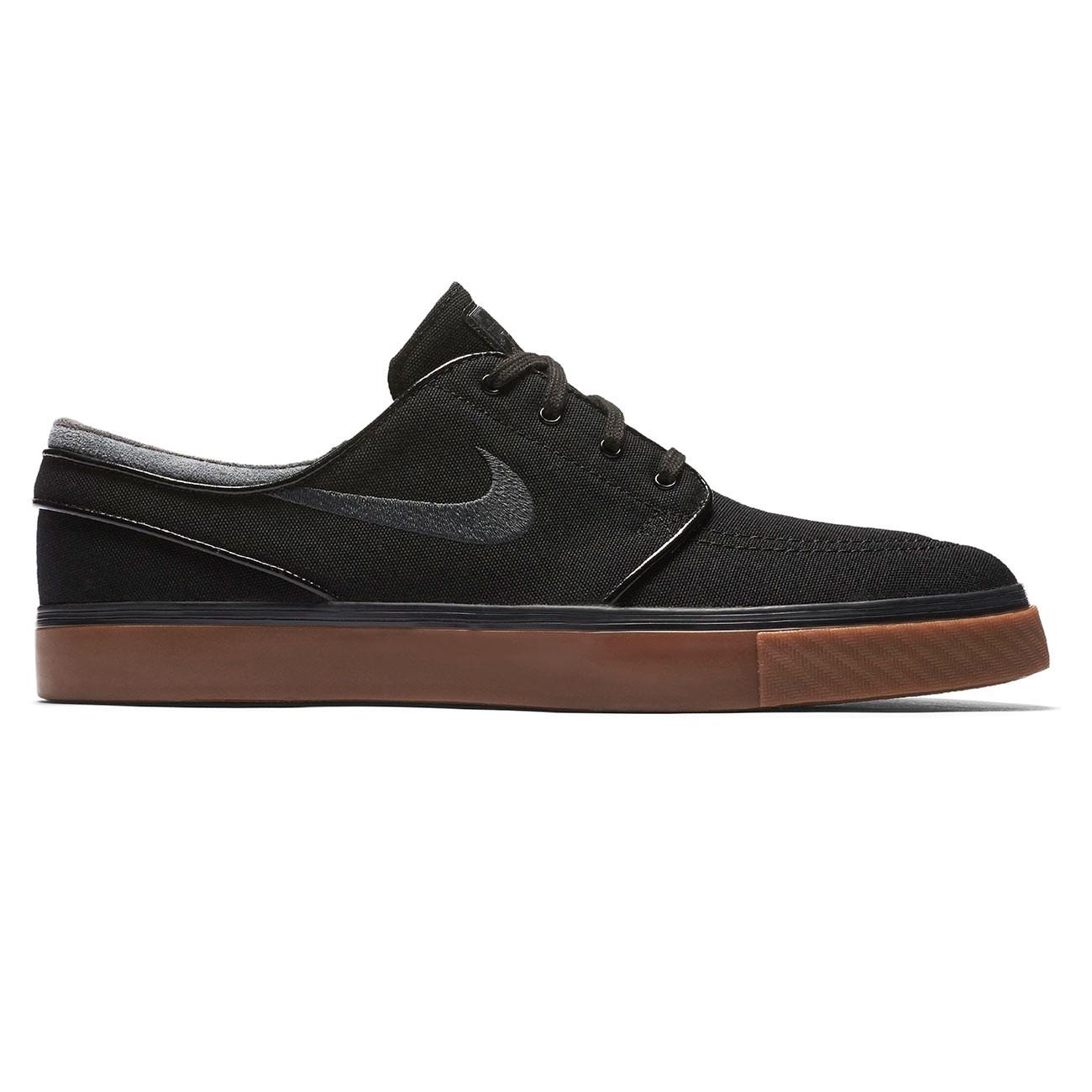 Tenisky Nike SB Zoom Stefan Janoski Canvas black/anthracite-gum med brown