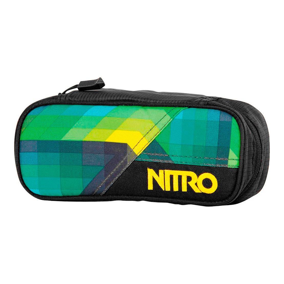 Školní pouzdro Nitro Pencil Case geo green