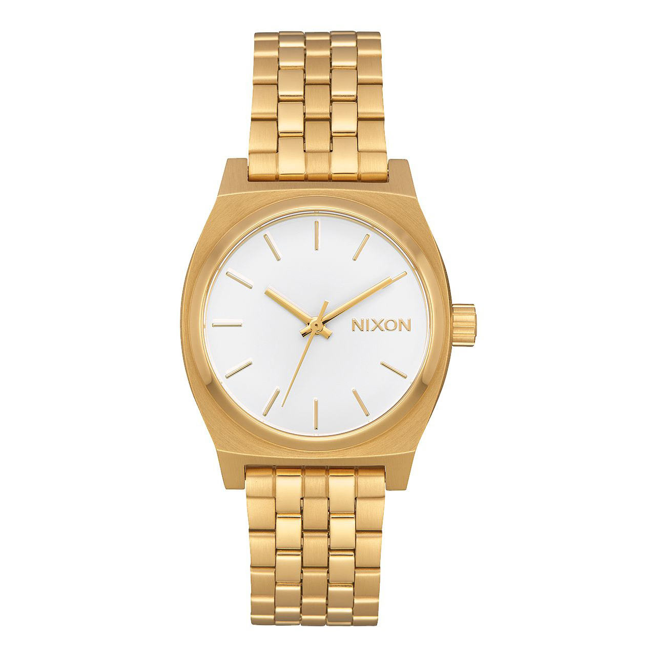Hodinky Nixon Medium Time Teller all gold/white