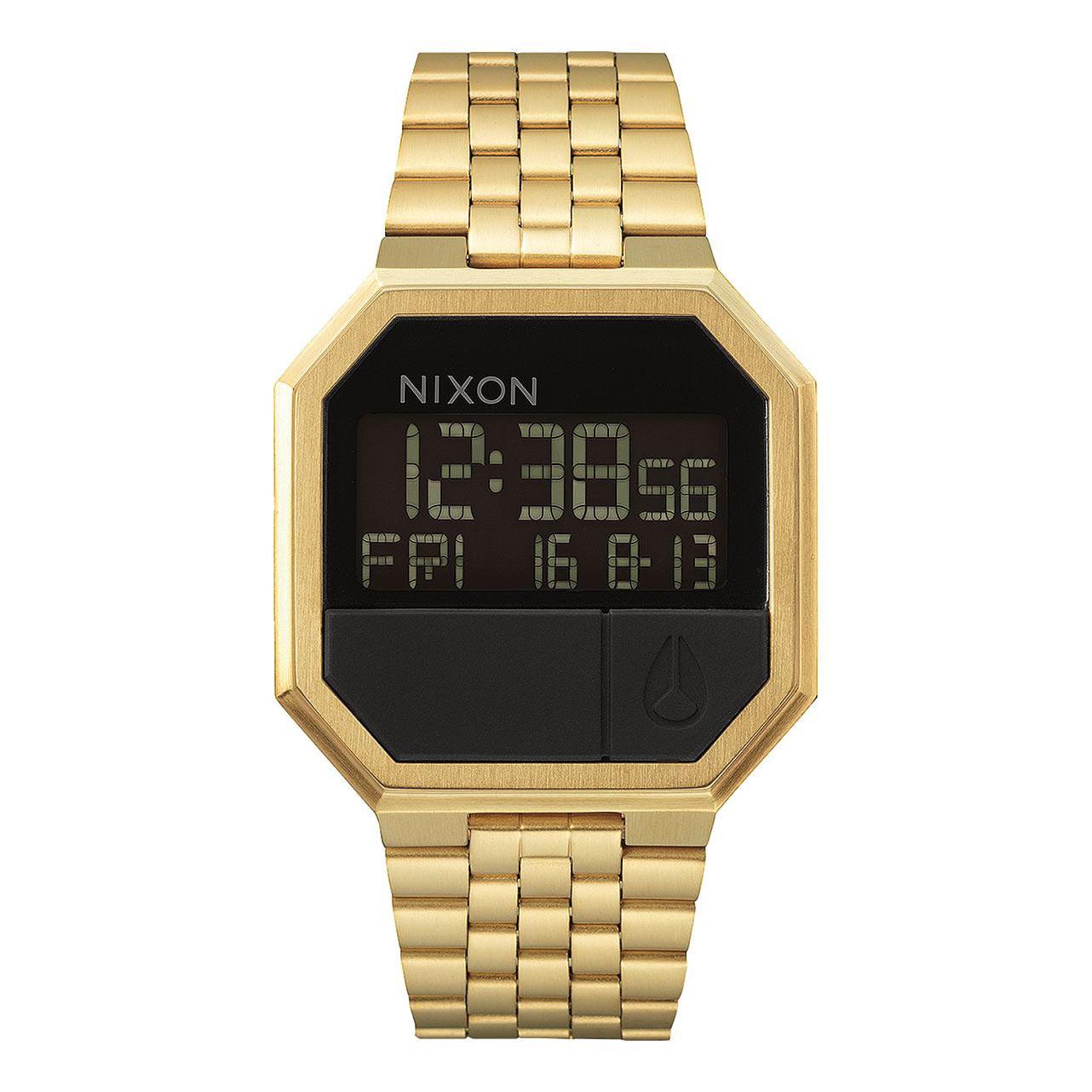 Hodinky Nixon Re-Run all gold