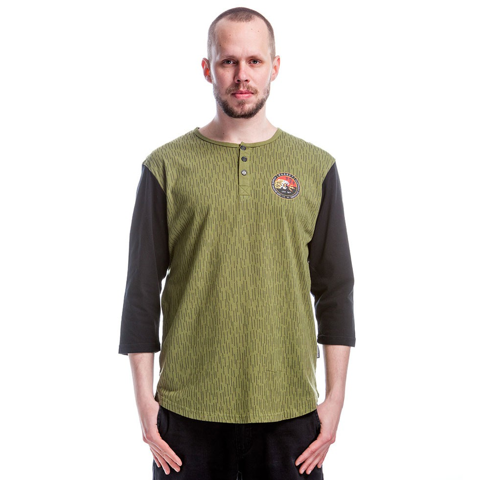 Tričko Nugget Top Tiger Ls olive/black