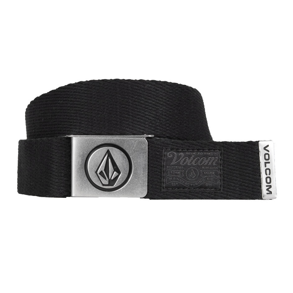 Opasek Volcom Circle Web stoney black