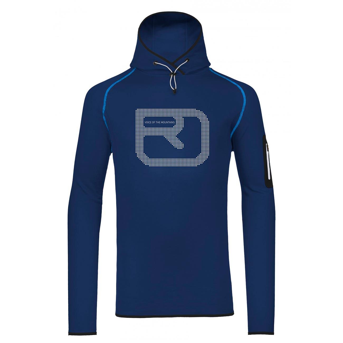 Ortovox Fleece Logo Hoody strong blue vel.L 16/17 + doručení do 24 hodin